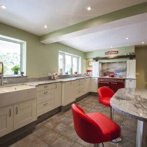 breakfront kitchen units add interest