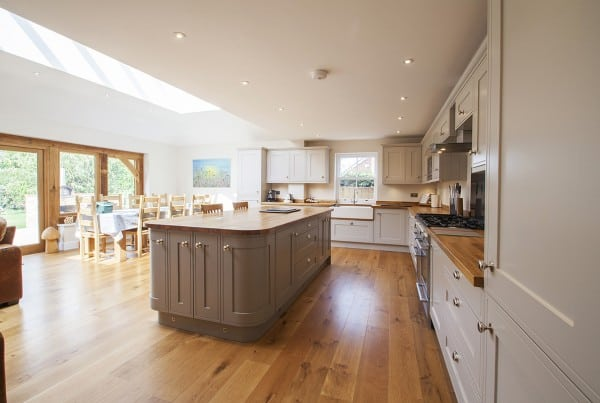 Edwardian Painted Kitchen in Sway