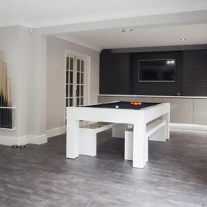 Pool table that converts to a dining table