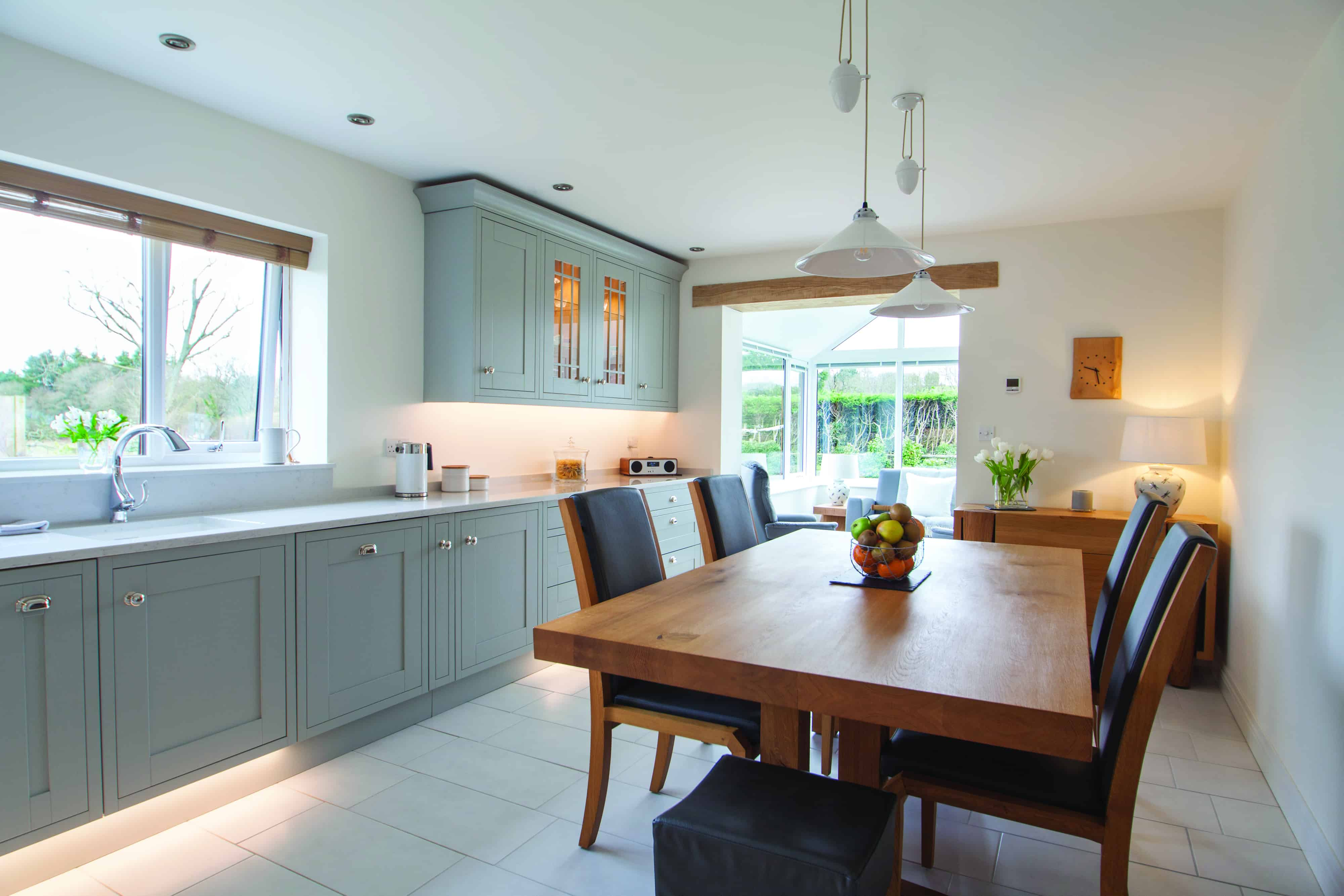 Light grey shaker kitchen design by herbert william kitchen hampshire for Kitchen ideas shaker