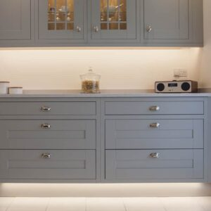 Light grey shaker kitchen design by herbert william kitchen hampshire light grey shaker kitchen design in carters clay with wide drawers workwithnaturefo