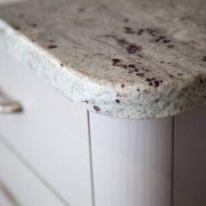 Taupe Painted Mackintosh Shaker Kitchen Design in Emsworth italian granite