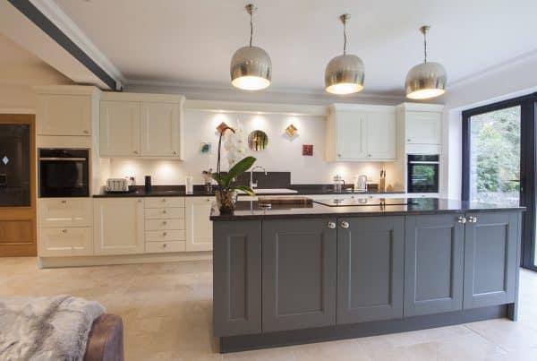 Custom coloured kitchen