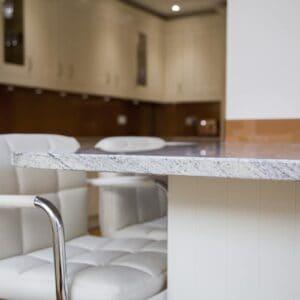 Stunning kitchen design with copper glass