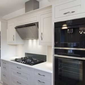 Taupe Painted Mackintosh Kitchen Design by Lorna one of our in house designers from Herbert William was recently completed in Whiteparish Wiltshire.