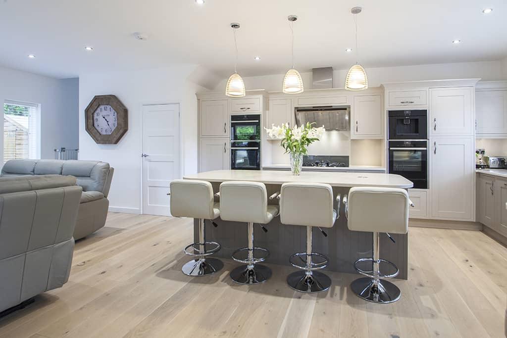 Taupe Painted Mackintosh Kitchen Design in Whiteparish Wiltshire