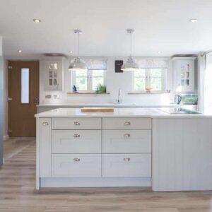 Mackintosh Edwardian Limestone Kitchen Design in the New Forest