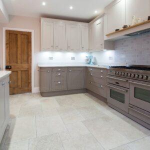 Range cooker in kitchen design Lymington