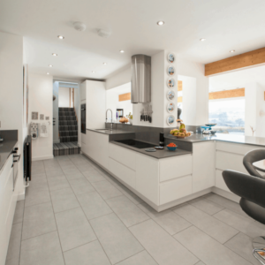 New Integral Kitchen for a Forever Home by Herbert William