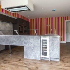 Bright modern kitchen design Lyndhurst hampshire