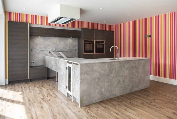 Bright modern kitchen design for new-build in Lyndhurst