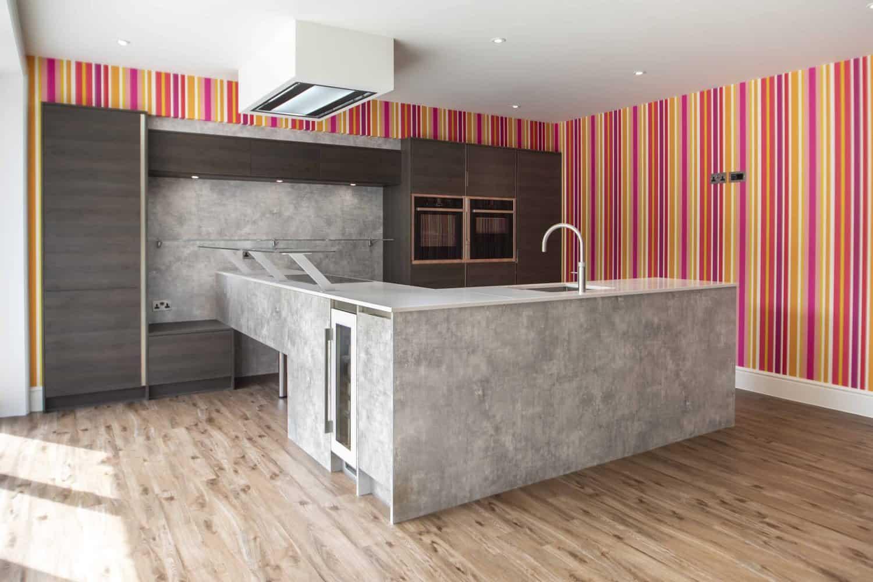 Bright modern kitchen design for new-build in Lyndhurst