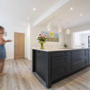 Grey kitchen design by Herbert William