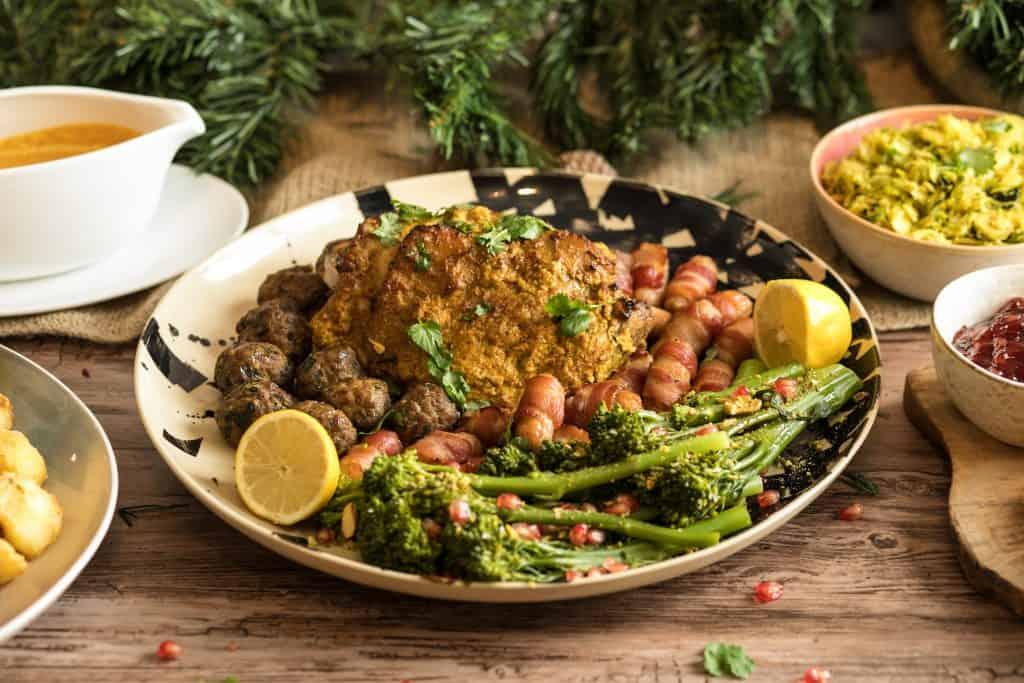 Indian masala roast turkey