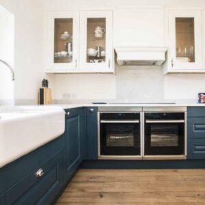 Copper Grey And Blue Colour Palette For New Kitchen Design