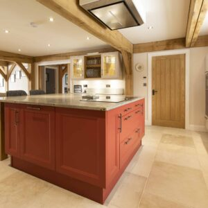 Bespoke kitchen hand painted
